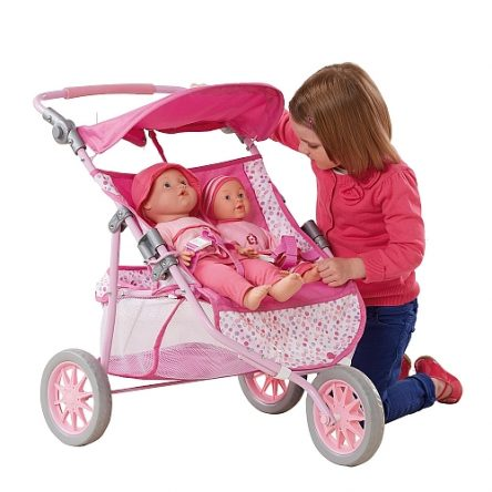 Lėlių vežimėlis dvyniams You&My